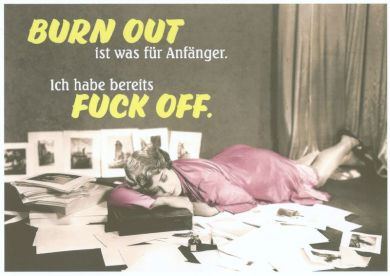 Frau mit Burn Out